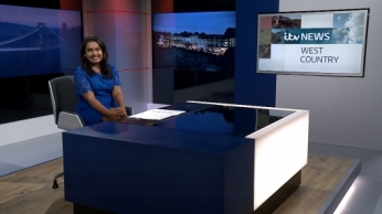 Presenting the late news bulletin on 30th August 2016 for ITV West Country.