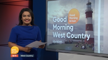 Ashna Hurynag presenting the Good Morning Britain regional news bulletin for ITV News West Country: Devon & Cornwall.