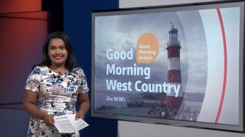 Presenting the Good Morning Britain regional news bulletin for ITV News West Country on 25th October 2016.