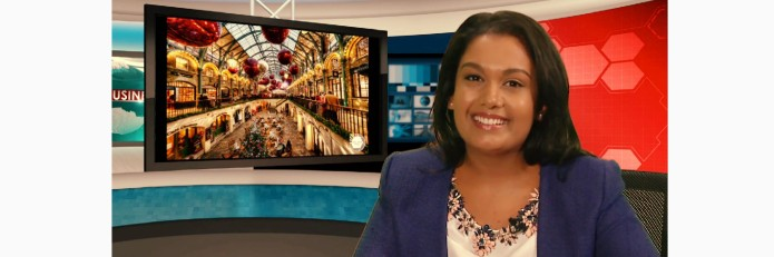 Presenting the Business News for City TV News. December 2014.