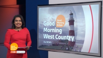 Presenting the Good Morning Britain regional news bulletin for ITV News West Country on 26th October 2016.