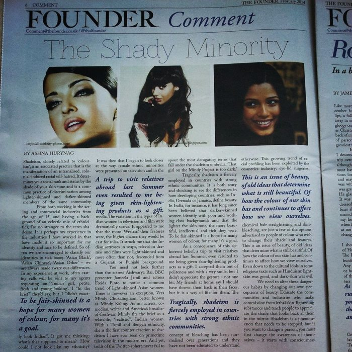 Published in The Founder newspaper, 2014.