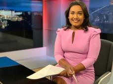 ITV West Country studio 2019 presenting the late news bulletin.