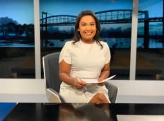 ITV West Country studio 2019 presenting the late news.