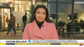 Reporting on the start of the biggest immunisation programme in NHS history.