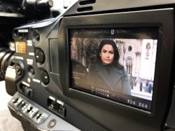 Reporting outside the Royal Courts of Justice live for Sky News.