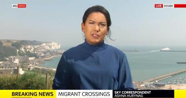 Live from Dover as a record number of crossings are made. Breaking for Sky News.
