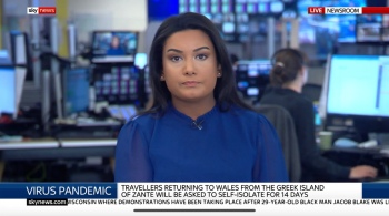 Reporting live from the Sky News newsroom into the breakfast programme.
