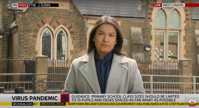 Live for Sky News talking about school closures in Covid-19.